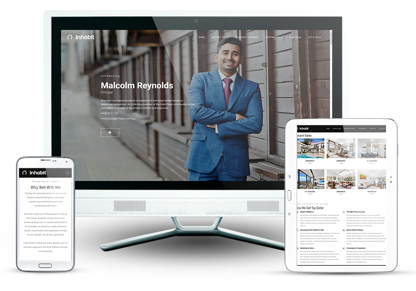 Real Estate Salesperson Microsite